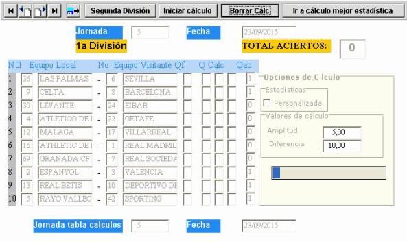 quiniela, liga española de fútbol